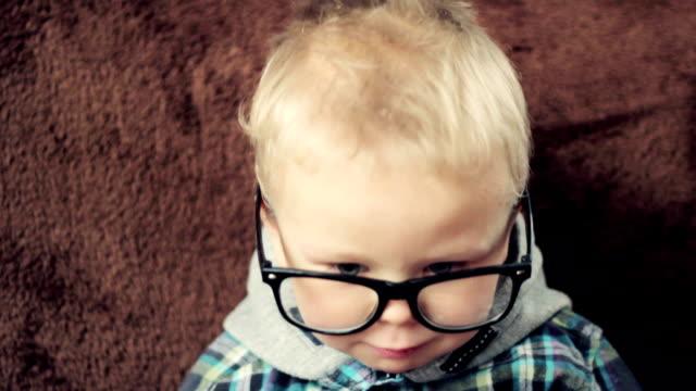Cute nerd boy video