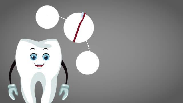 Cartoon dentaire dent mignon animation HD - Vidéo