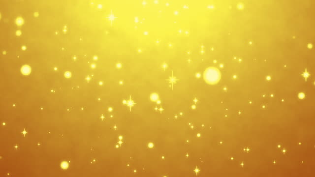 cute yellow particles abstract background loopable - kawaii video stock e b–roll