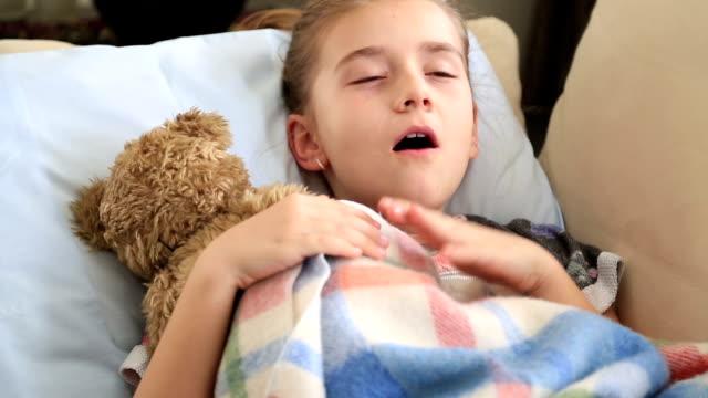 Cute young girl sleeping video