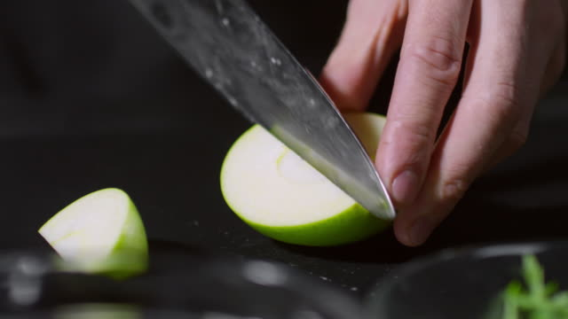 Cutting Green Apple