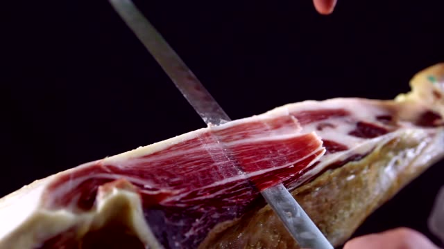 cutting iberian ham