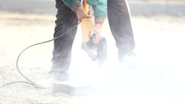 cutting paving slabs video