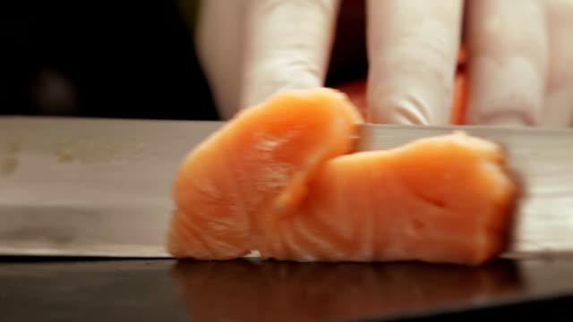 Cutting Salmon video