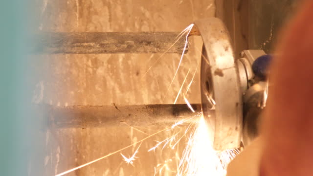 Cutting steel pipe Cutting steel pipe pipe connector stock videos & royalty-free footage