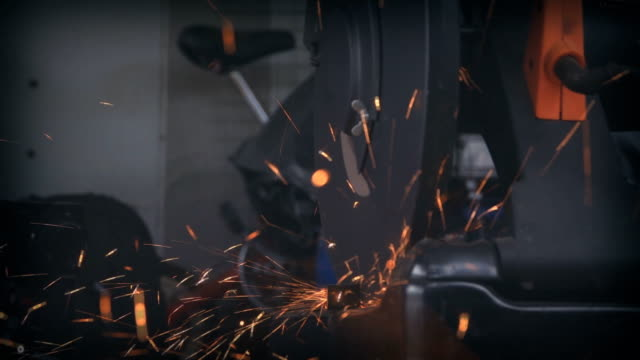 SLO MO Cutting steel. SLO MO Cutting steel. 4K(UHD) 3840x2160 format. pipe connector stock videos & royalty-free footage
