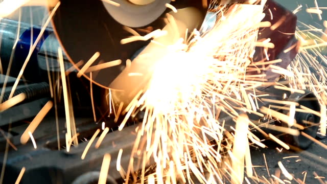 Cutting steel Cutting steel,pipe pipe connector stock videos & royalty-free footage