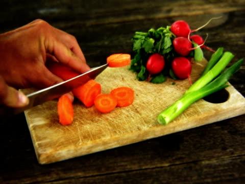 vidéos et rushes de ntsc couper la carotte. - angiosperme