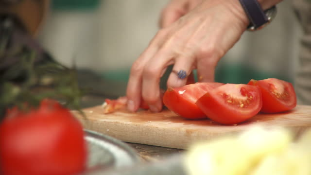 HD: Cutting Tomatoes video