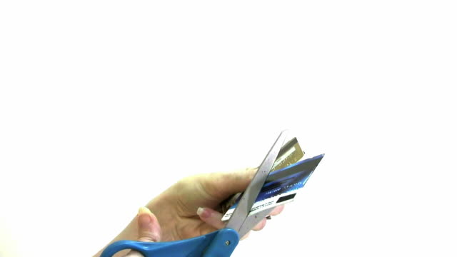 Cutting up credit cards video