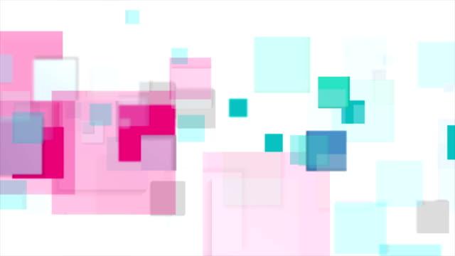 cyan und rosa quadrate tech abstrakte video-animation - rechteck stock-videos und b-roll-filmmaterial