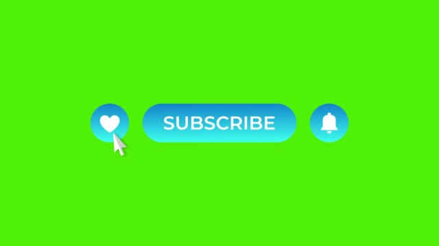 cyan gradient round like subscribe and notifications buttons on green screen - icona mi piace video stock e b–roll