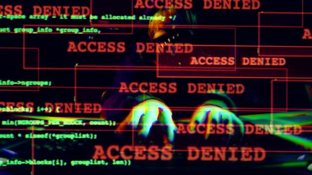 サイバー攻撃。アクセスが拒否されました。 - なりすまし犯罪点の映像素材/bロール