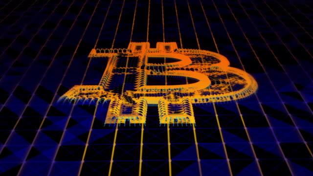 Cyber blockchain Bitcoin background video