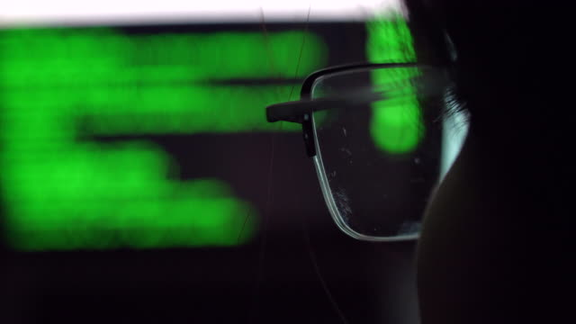 cyber crime activity ,hacker - идентификация личности стоковые видео и кадры b-roll
