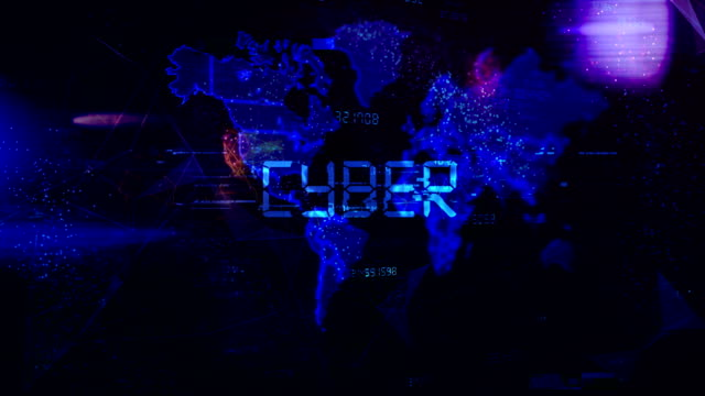 Cyber crime and internet secutrity looped animation