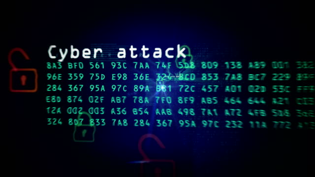 Cyber crime and internet secutrity looped animation Concept looped animation for computer attack, cyber stealing and internet crime. Abstract background of a security in cyber space. hacker stock videos & royalty-free footage