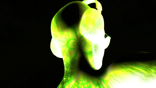 Cyber DJ Woman with Headphones video
