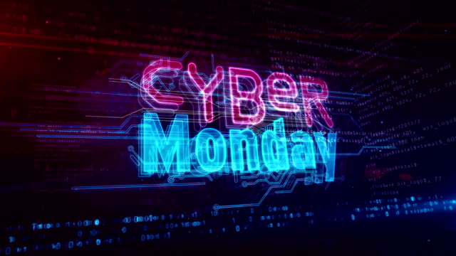 Cyber Monday abstract loopable animation Cyber monday hot deal and business concept. Abstract loopable and seamless 3d rendering animation. cyber monday stock videos & royalty-free footage