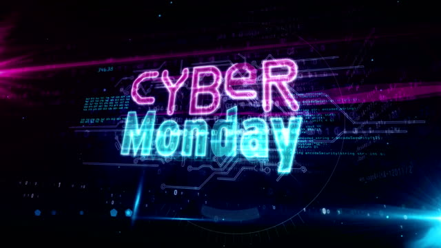 Cyber Monday abstract loopable Cyber monday, business promotion, mega sale, hot deal shopping and discount loop concept. Futuristic abstract 3d rendering loopable and seamless animation. cyber monday stock videos & royalty-free footage