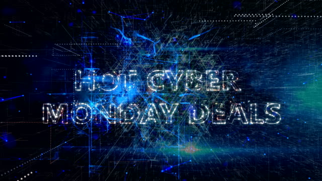 Cyber Monday Advertisement Text Banner Cyber Monday Advertisement Text Banner cyber monday stock videos & royalty-free footage