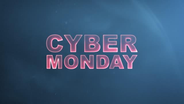 cyber monday advertisement text banner - cyber monday стоковые видео и кадры b-roll