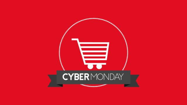 cyber monday animation with shopping cart cyber monday animation with shopping cart ,FullHD video cyber monday stock videos & royalty-free footage