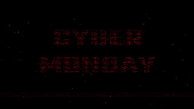 Cyber Monday binary code motion background video