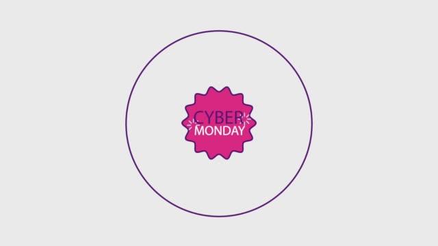 cyber monday concept - cyber monday стоковые видео и кадры b-roll