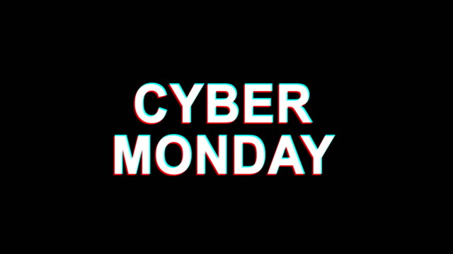 Cyber Monday Glitch Effect Text Digital TV Distortion 4K Loop Animation Cyber Monday Glitch Text Abstract Vintage Twitched 4K Loop Motion Animation . Black Old Retro Digital TV Glitch Effect Including Twitch, Noise, VHS, Distortion. cyber monday stock videos & royalty-free footage