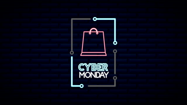 cyber monday neon lights animation with shopping cart cyber monday neon lights animation with shopping cart ,FullHD video cyber monday stock videos & royalty-free footage