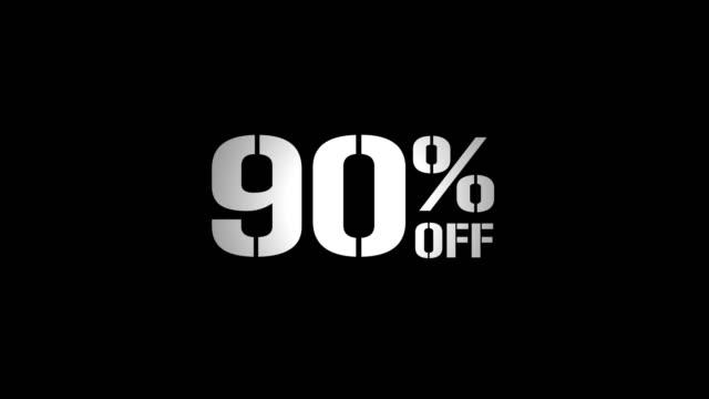 cyber понедельник off продажа набор 9 процентов текстовой анимации продвижение видео сбой эффект - cyber monday стоковые видео и кадры b-roll