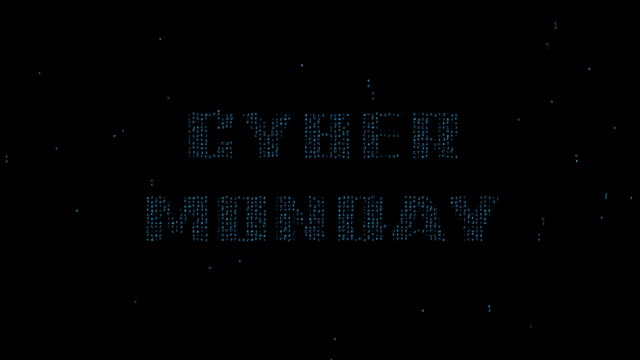Cyber Monday on binary code background video
