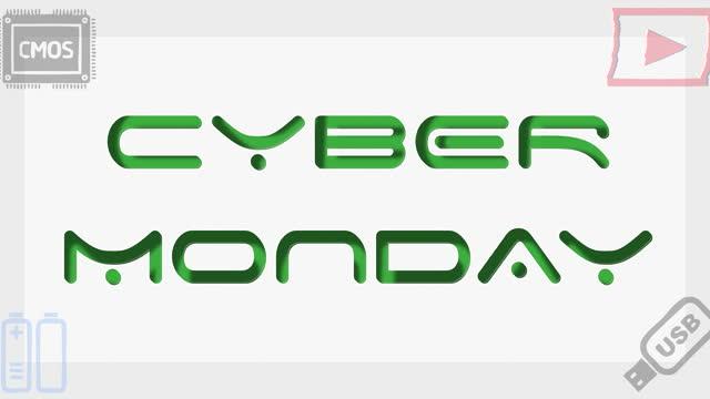 cyber poniedziałek sprzedaż cyfrowych produktów animacja - cyber monday filmów i materiałów b-roll