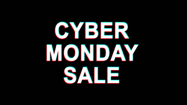 Cyber Monday Sale  Glitch Effect Text Digital TV Distortion 4K Loop Animation Cyber Monday Sale Glitch Text Abstract Vintage Twitched 4K Loop Motion Animation . Black Old Retro Digital TV Glitch Effect Including Twitch, Noise, VHS, Distortion. cyber monday stock videos & royalty-free footage