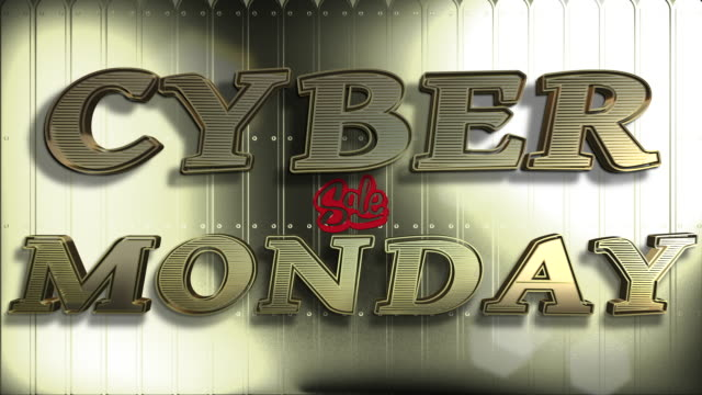 Cyber Monday Sale Gold 3D Text Looping Animation Cyber Monday Sale Gold 3D Text Looping Animation And Golden Background - 4K Resolution Ultra HD cyber monday stock videos & royalty-free footage