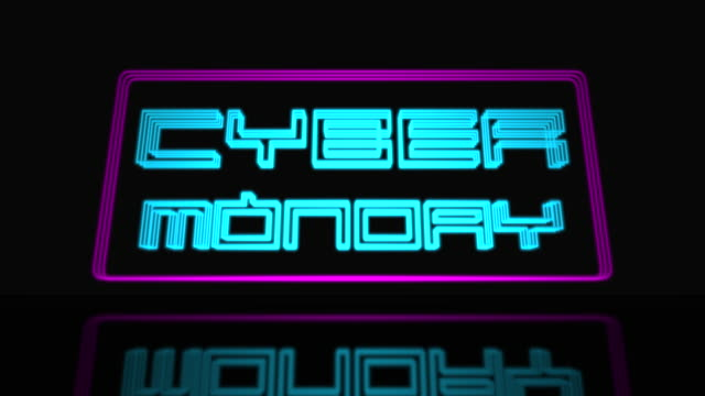 Cyber Monday Sale Neon Sign 3D Text Looping Animation Cyber Monday Sale Neon Sign 3D Text Looping Animation, Neon Sign Frame Light Electric Banner Glowing On A Black Background - 4K Resolution Ultra HD cyber monday stock videos & royalty-free footage