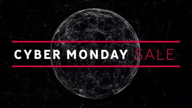 киберпонедельник продажа на черном фоне - cyber monday стоковые видео и кадры b-roll