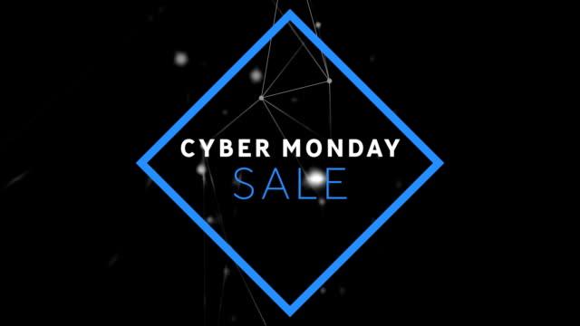 cyber monday sale on black background - cyber monday filmów i materiałów b-roll