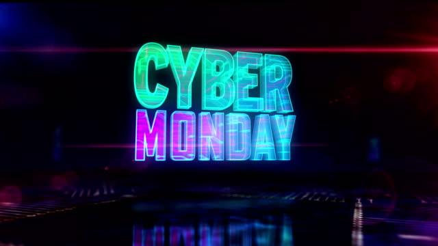 cyber poniedziałek sprzedaż symbol loopable animacji 3d - cyber monday filmów i materiałów b-roll