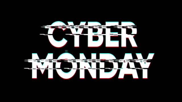 Cyber Monday Sale Cyber Monday glitch effect banner. cyber monday stock videos & royalty-free footage