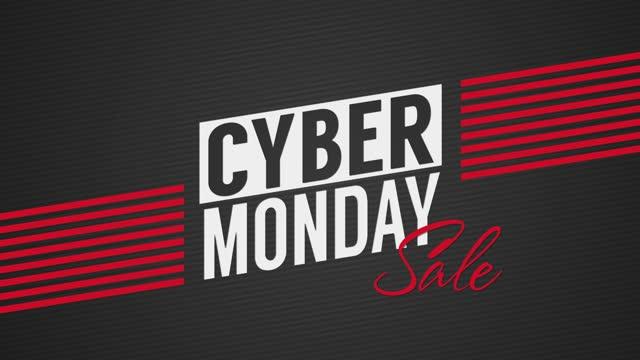 кибер понедельник продажи с тегами висит - cyber monday стоковые видео и кадры b-roll