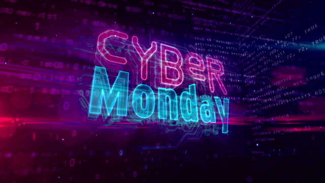 Cyber Monday symbol abstract loopable animation Cyber monday, business promotion, hot deal shopping and discount loop animation. Futuristic abstract 3d rendering loopable and seamless concept. cyber monday stock videos & royalty-free footage