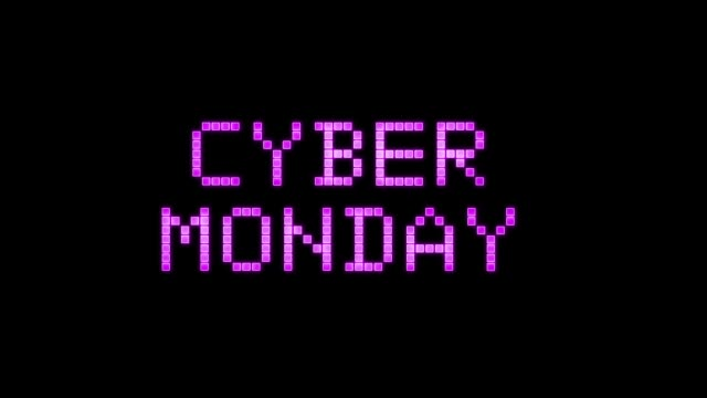 Cyber monday text animation Cyber monday text animation on black background cyber monday stock videos & royalty-free footage