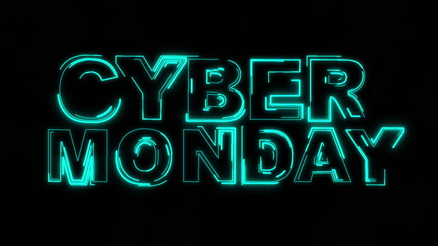 Cyber monday text neon animation Cyber monday text neon animation,Cyber monday sale concept animation. cyber monday stock videos & royalty-free footage
