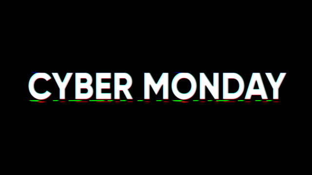 Cyber Monday Cyber Monday glitch effect banner cyber monday stock videos & royalty-free footage