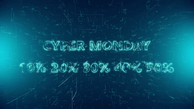 Cyber Monday Text, Capital Letter, Single Word, Symbol. Cyber Monday. cyber monday stock videos & royalty-free footage