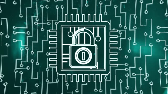 cyber security concept with lock - censura video stock e b–roll