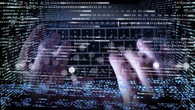cyber security crime montage - montage filmtechnik stock-videos und b-roll-filmmaterial