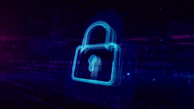 cyber security digitala koncept med hänglås - vakta bildbanksvideor och videomaterial från bakom kulisserna